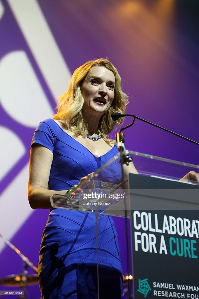 Actress Andrea Powell speaks on stage during the 16th Annual Samuel Waxman Cancer Research Foundation Collaborating For A Cure Benefit Dinner & Auction at Park Avenue Armory on November 21, 2013 in New York City.