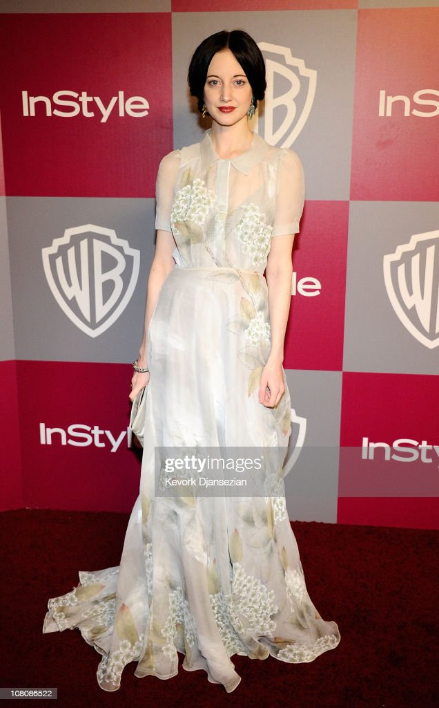 Actress Andrea Riseborough arrives at the 2011 InStyle And Warner Bros. 68th Annual Golden Globe Awards post-party held at The Beverly Hilton hotel on January 16, 2011 in Beverly Hills, California.