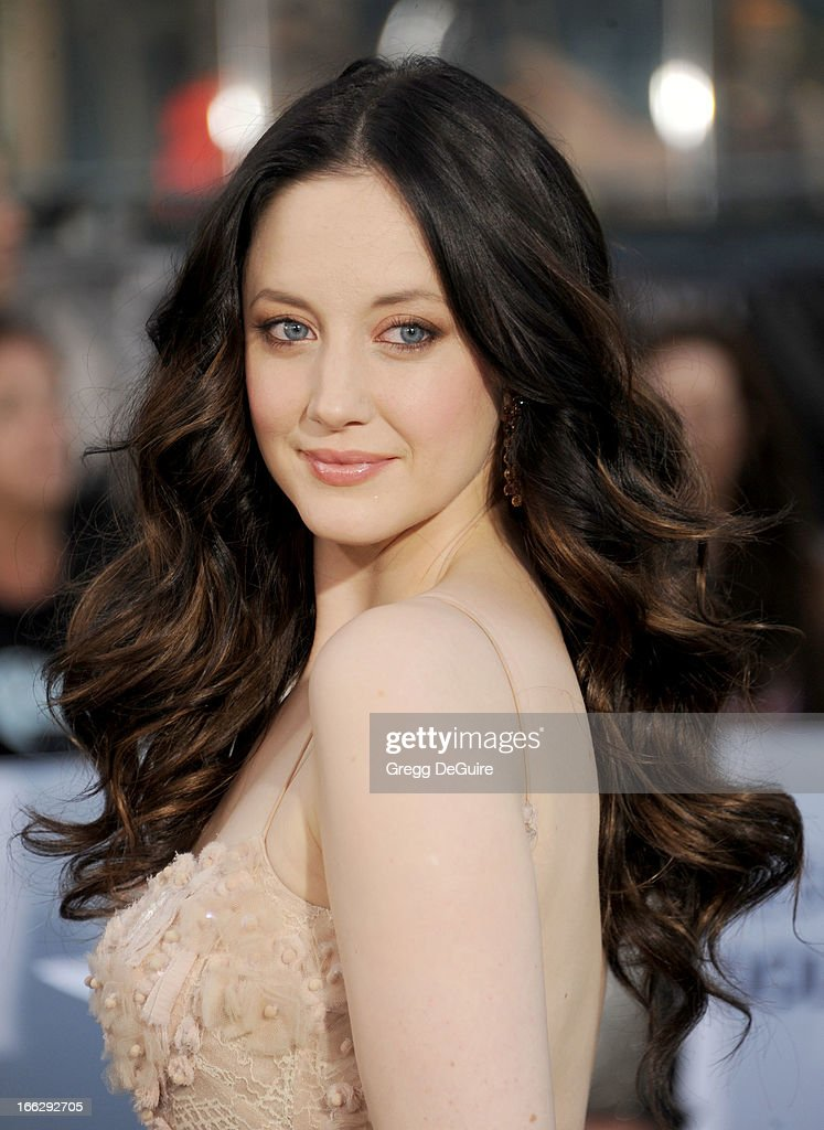 Actress Andrea Riseborough arrives at the Los Angeles premiere of 'Oblivion' at Dolby Theatre on April 10, 2013 in Hollywood, California.
