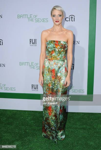 Actress Andrea Riseborough arrives at the Premiere Of Fox Searchlight Pictures' 'Battle Of The Sexes' at Regency Village Theatre on September 16 2017...