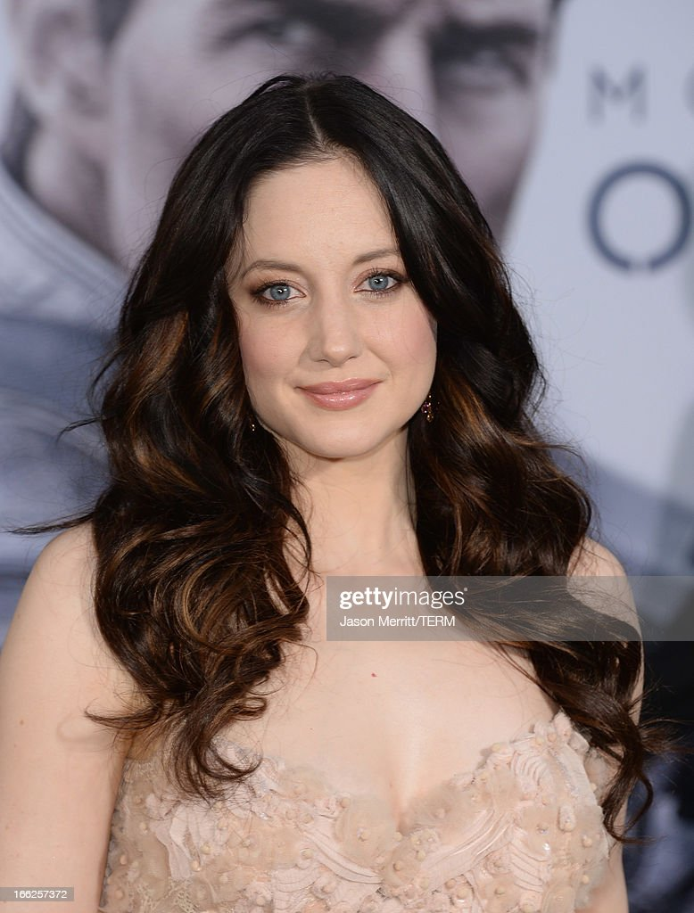 Actress Andrea Riseborough arrives at the premiere of Universal Pictures' 'Oblivion' at Dolby Theatre on April 10, 2013 in Hollywood, California.