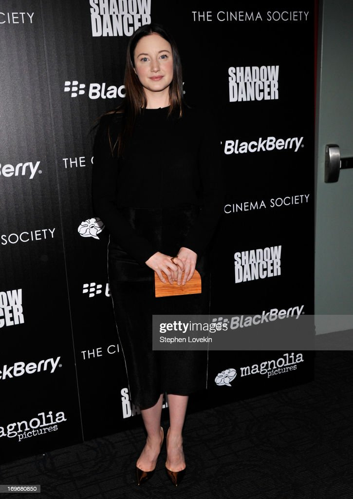 Actress <a gi-track='captionPersonalityLinkClicked' href=/galleries/search?phrase=Andrea+Riseborough&family=editorial&specificpeople=4395380 ng-click='$event.stopPropagation()'>Andrea Riseborough</a> attends a screening of Magnolia Pictures' 'Shadow Dancer' hosted by the Cinema Society & BlackBerry at Sunshine Landmark on May 30, 2013 in New York City.