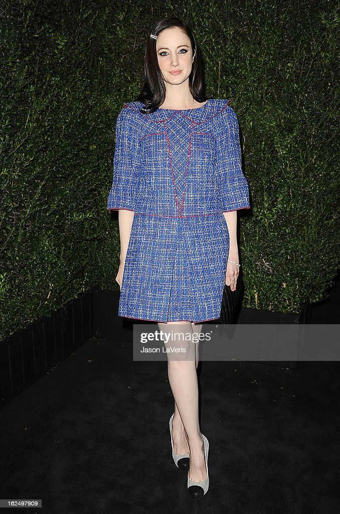 Actress Andrea Riseborough attends the Chanel Pre-Oscar dinner at Madeo Restaurant on February 23, 2013 in Los Angeles, California.
