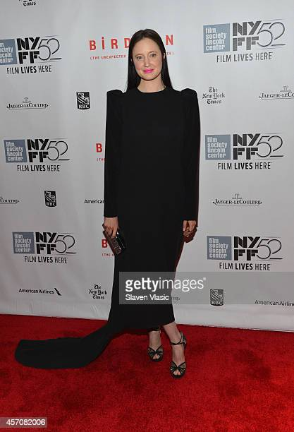 Actress Andrea Riseborough attends the Closing Night Gala Presentation of 'Birdman Or The Unexpected Virtue Of Ignorance' during the 52nd New York...