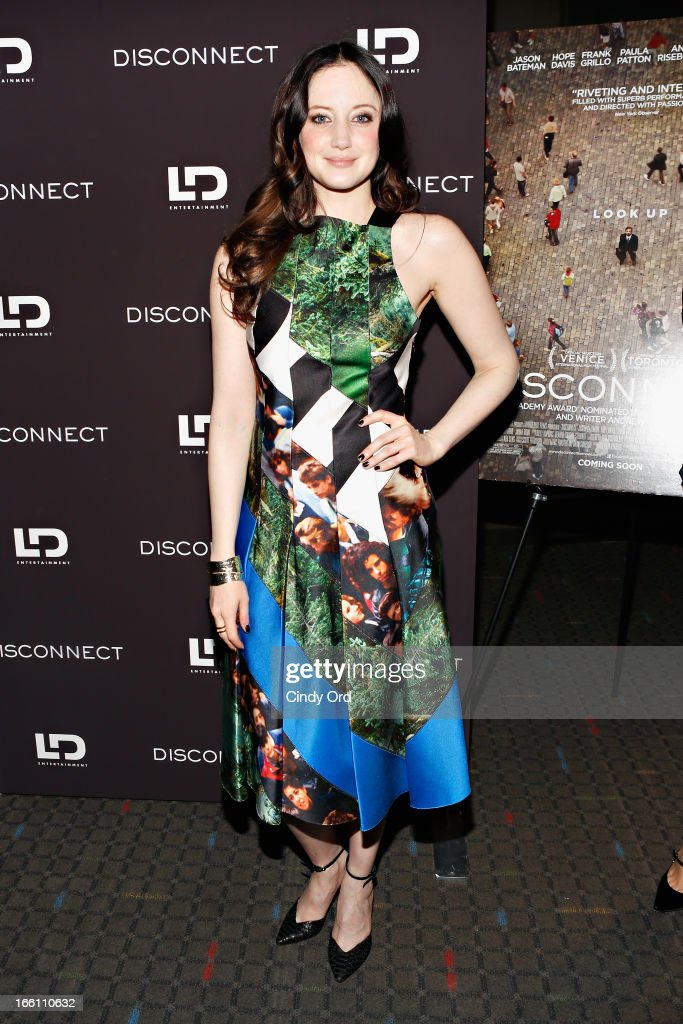 Actress Andrea Riseborough attends the 'Disconnect' New York Special Screening at SVA Theater on April 8 2013 in New York City