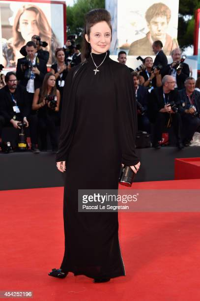 Actress Andrea Riseborough attends the Opening Ceremony and 'Birdman' premiere during the 71st Venice Film Festival on August 27 2014 in Venice Italy