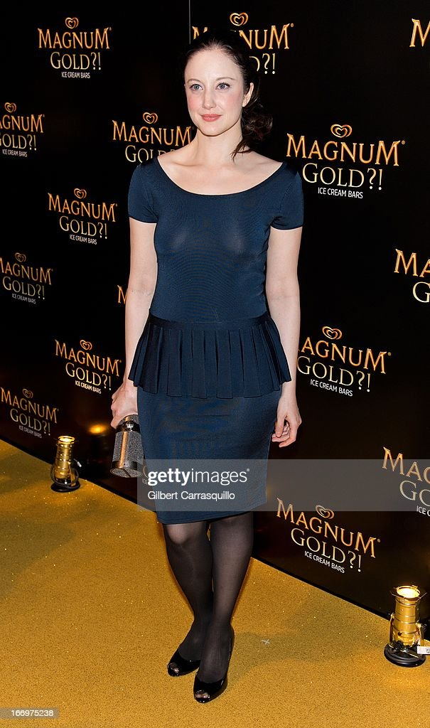 Actress Andrea Riseborough attends the premiere of 'As Good As Gold' during the 2013 Tribeca Film Festival at Gotham Hall on April 18, 2013 in New York City.
