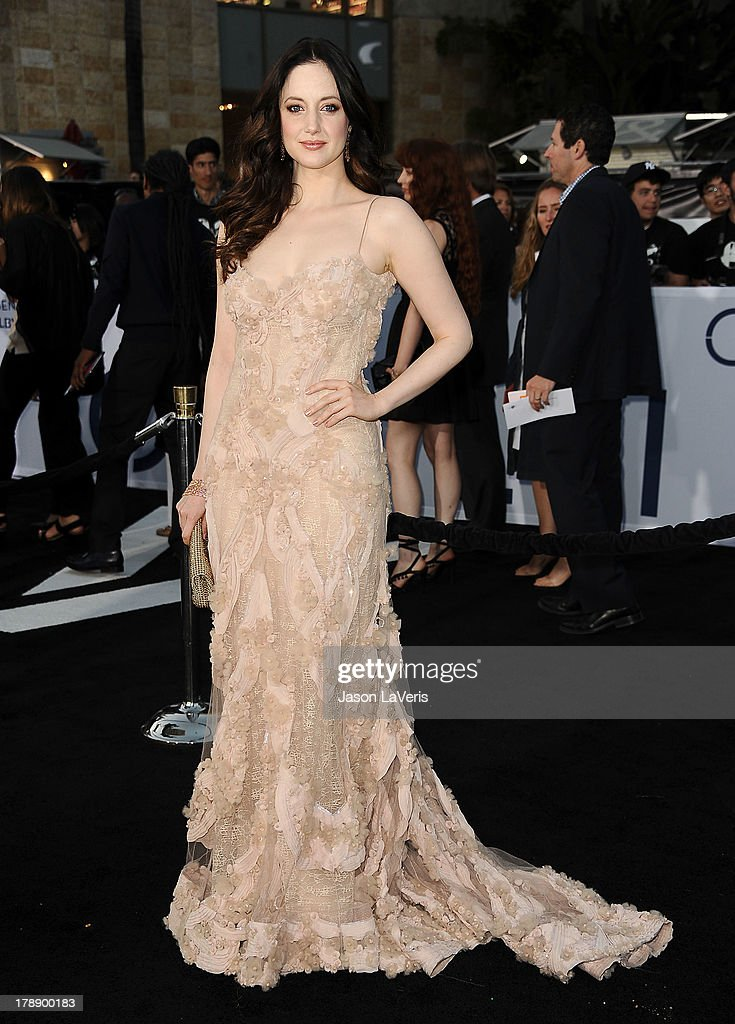 Actress Andrea Riseborough attends the premiere of 'Oblivion' at the Dolby Theatre on April 10, 2013 in Hollywood, California.