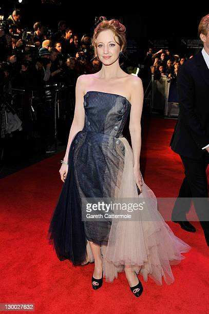 Actress Andrea Riseborough attends the 'WE' premiere during the 55th BFI London Film Festival at Empire Leicester Square on October 23 2011 in London...