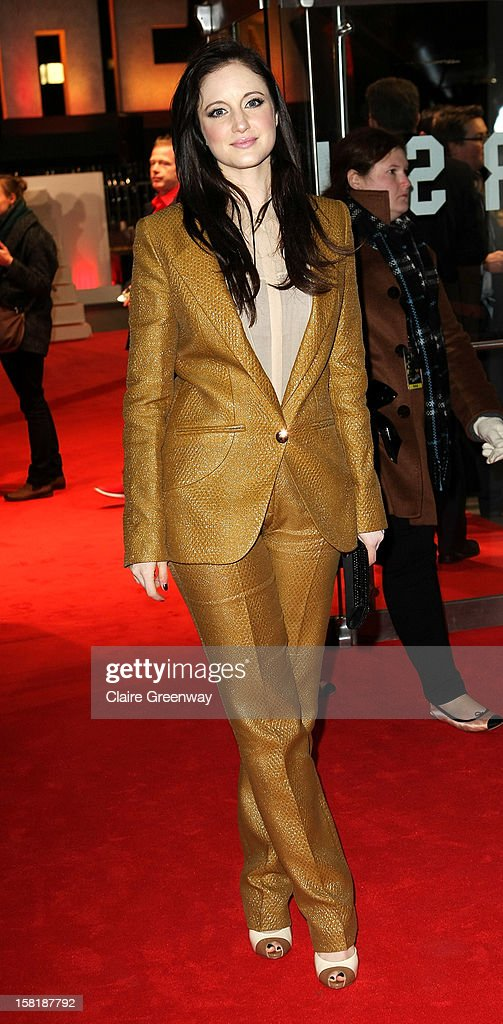 Actress Andrea Riseborough attends the world premiere of 'Jack Reacher' at The Odeon Leicester Square on December 10, 2012 in London, England.