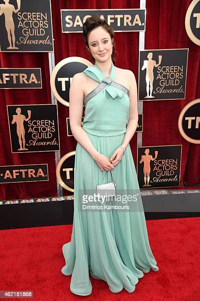 Actress Andrea Riseborough attends TNT's 21st Annual Screen Actors Guild Awards at The Shrine Auditorium on January 25 2015 in Los Angeles California...