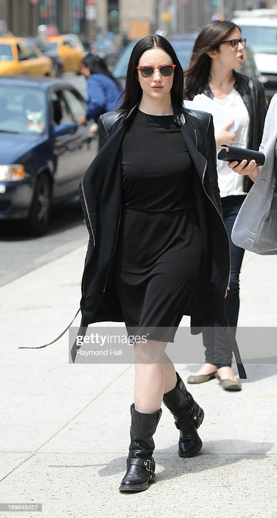 Actress Andrea Riseborough is seen in Soho on May 29, 2013 in New York City.