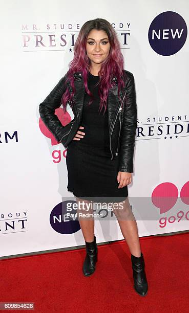 Actress Andrea Russett on the red carpet at the Premiere of Verizon go90's 'Mr Student Body President' at TCL Chinese 6 Theatres on September 22 2016...