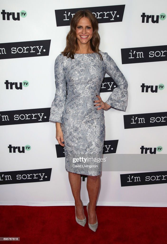 Actress Andrea Savage attends the premiere of truTV's 'I'm Sorry' at SilverScreen Theater at the Pacific Design Center on June 13, 2017 in West Hollywood, California.