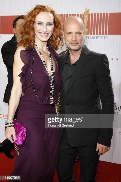 Actress Andrea Sawatzki and actor Christian Berkel arrive at the Red Carpet for the 'Lola German Film Award 2011' at Friedrichstadtpalast on April 8...