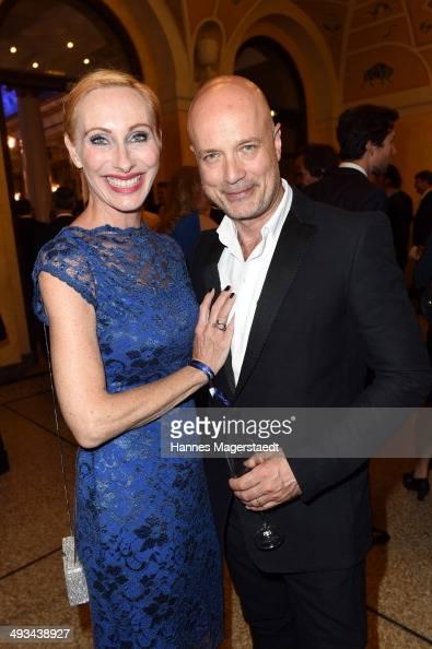 Actress Andrea Sawatzki and Actor Christian Berkel attend the 'Bayerischer Fernsehpreis 2014' at Prinzregententheater on May 23 2014 in Munich Germany