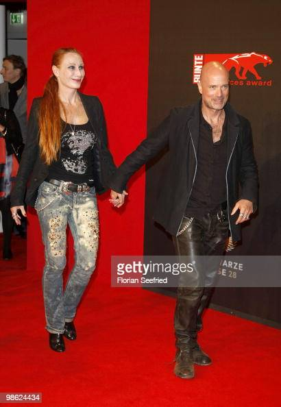 Actress Andrea Sawatzki and husband actor Christian Berkel attend the 'new faces award 2010' at cafe Moskau on April 22 2010 in Berlin Germany