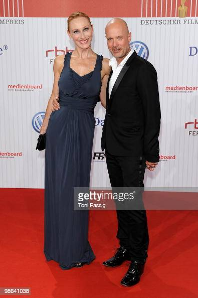 Actress Andrea Sawatzki and husband Christian Berkel attend the 'German film award 2010' at Friedrichstadtpalast on April 23 2010 in Berlin Germany
