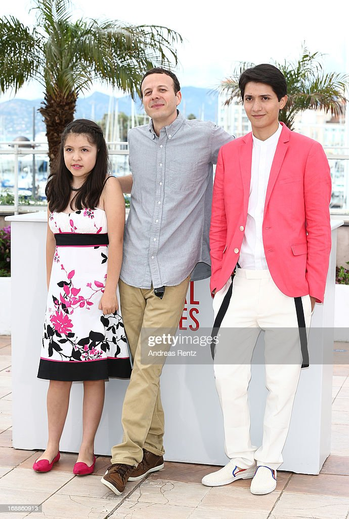 Actress Andrea Vergara, director <a gi-track='captionPersonalityLinkClicked' href=/galleries/search?phrase=Amat+Escalante&family=editorial&specificpeople=5350930 ng-click='$event.stopPropagation()'>Amat Escalante</a> and actor <a gi-track='captionPersonalityLinkClicked' href=/galleries/search?phrase=Armando+Espitia&family=editorial&specificpeople=10925422 ng-click='$event.stopPropagation()'>Armando Espitia</a> attend the 'Heli' Photocall during the 66th Annual Cannes Film Festival at the Palais des Festivals on May 16, 2013 in Cannes, France.