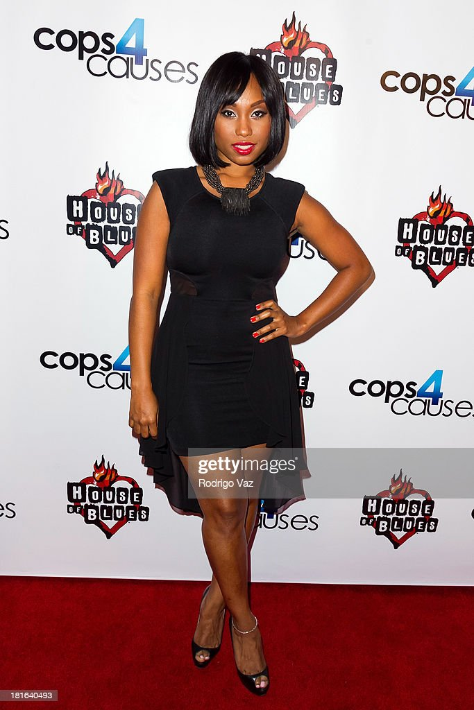 Actress Angel Conwell arrives at Cops 4 Causes hosts 2nd Annual 'Heroes Helping Heroes' Benefit Concert at House of Blues Sunset Strip on September 11, 2013 in West Hollywood, California.