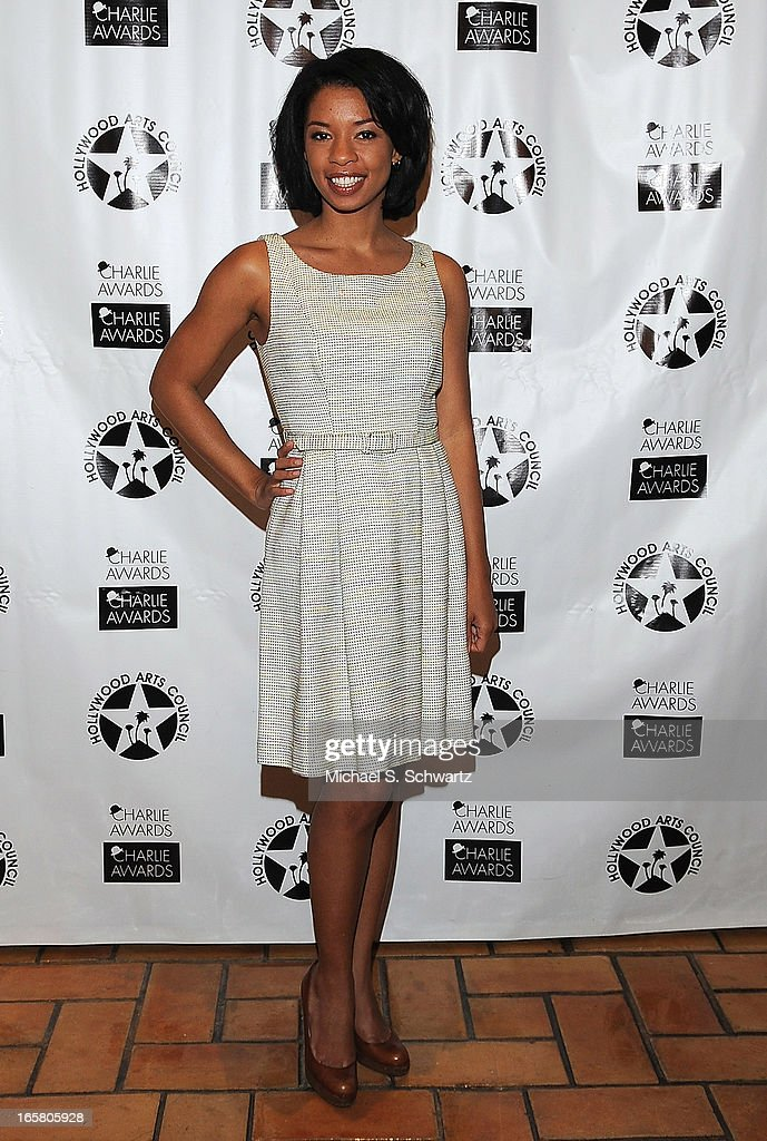 Actress Angel Parker attends the Hollywood Arts Council's 27th Annual Charlie Awards Luncheon at the Hollywood Roosevelt Hotel on April 5, 2013 in Hollywood, California.