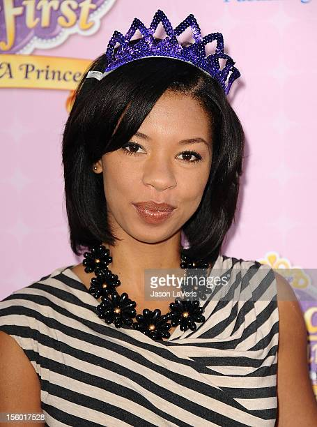 Actress Angel Parker attends the premiere of 'Sofia The First Once Upon a Princess' at Walt Disney Studios on November 10 2012 in Burbank California