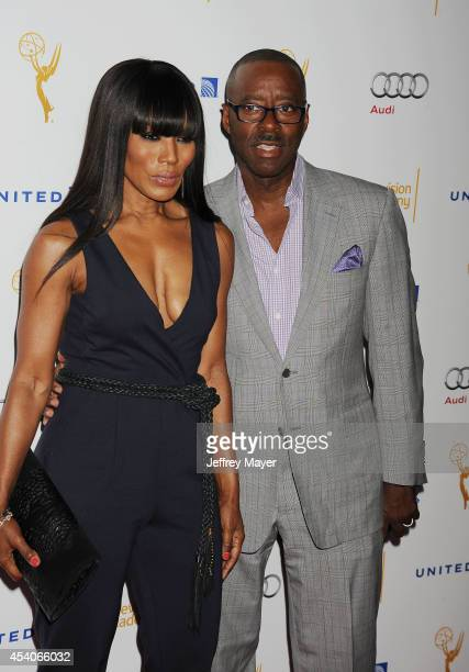 Actress Angela Bassett and Courtney B Vance arrive at the Television Academy's 66th Emmy Awards Performance Nominee Reception at the Pacific Design...