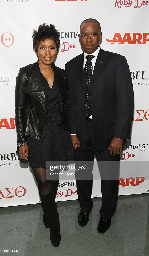 Actress <a gi-track='captionPersonalityLinkClicked' href=/galleries/search?phrase=Angela+Bassett&family=editorial&specificpeople=171174 ng-click='$event.stopPropagation()'>Angela Bassett</a> and <a gi-track='captionPersonalityLinkClicked' href=/galleries/search?phrase=Courtney+B.+Vance&family=editorial&specificpeople=224059 ng-click='$event.stopPropagation()'>Courtney B. Vance</a> attends the 'Life's Essentials With Ruby Dee' screening at The Schomburg Center for Research in Black Culture on November 14, 2012 in New York City.