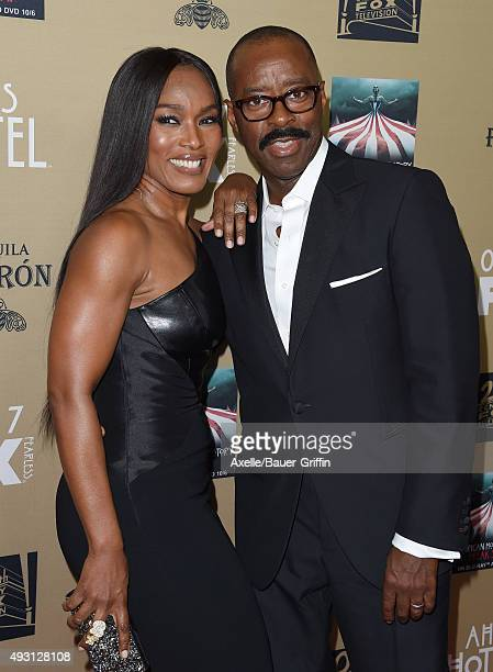 Actress Angela Bassett and husband Courtney B Vance arrive at the premiere screening of FX's 'American Horror Story Hotel' at Regal Cinemas LA Live...