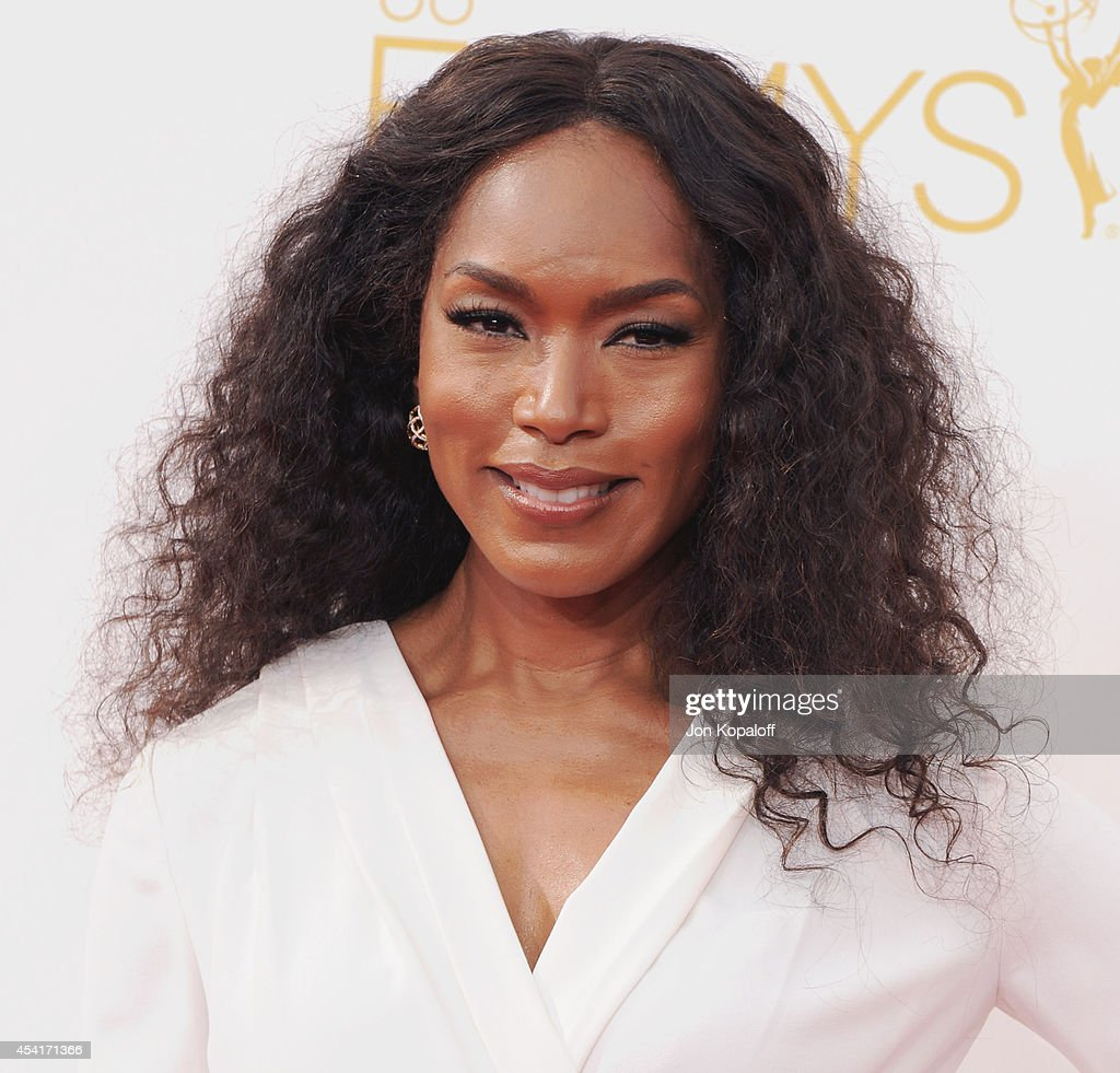Actress Angela Bassett arrives at the 66th Annual Primetime Emmy Awards at Nokia Theatre LA Live on August 25 2014 in Los Angeles California