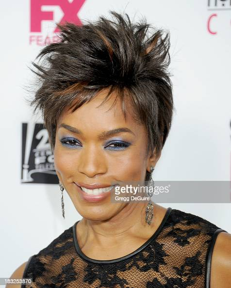 Actress Angela Bassett arrives at the Los Angeles premiere of FX's 'American Horror Story Coven' at Pacific Design Center on October 5 2013 in West...