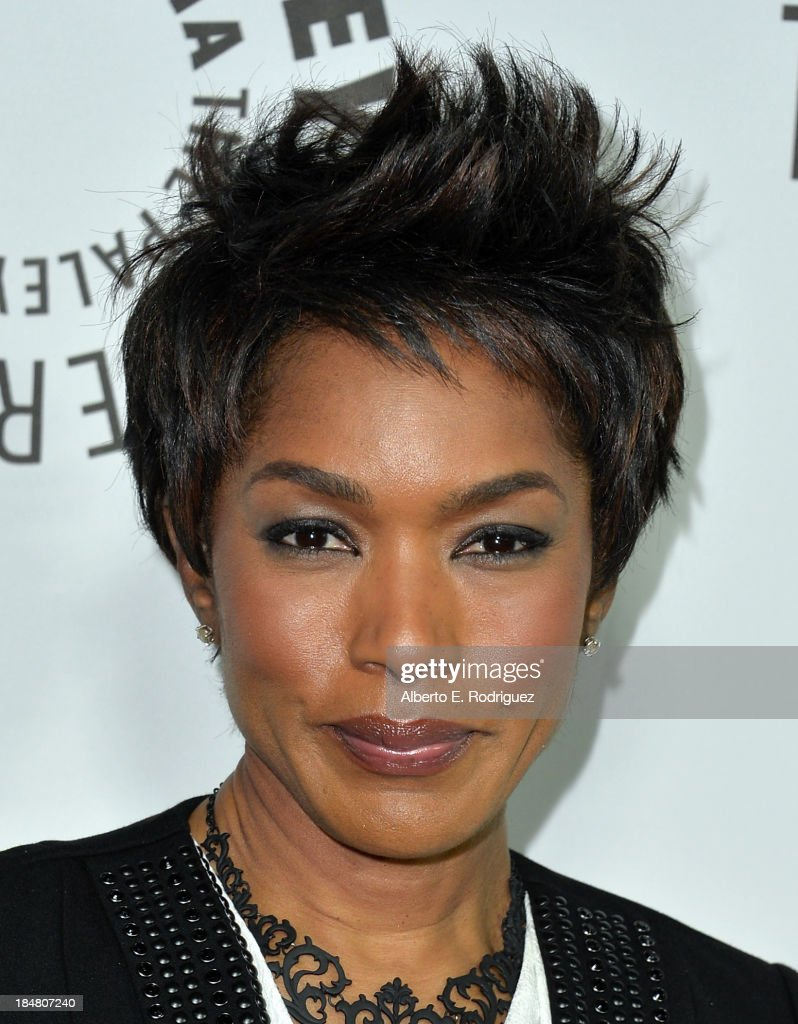 Actress Angela Bassett arrives at The Paley Center for Media's 2013 benefit gala honoring FX Networks with the Paley Prize for Innovation & Excellence at Fox Studio Lot on October 16, 2013 in Century City, California.