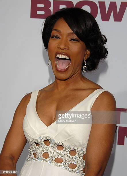 Actress Angela Bassett arrives at the premiere of 'Meet The Browns' held on March 13 2008 in Hollywood California