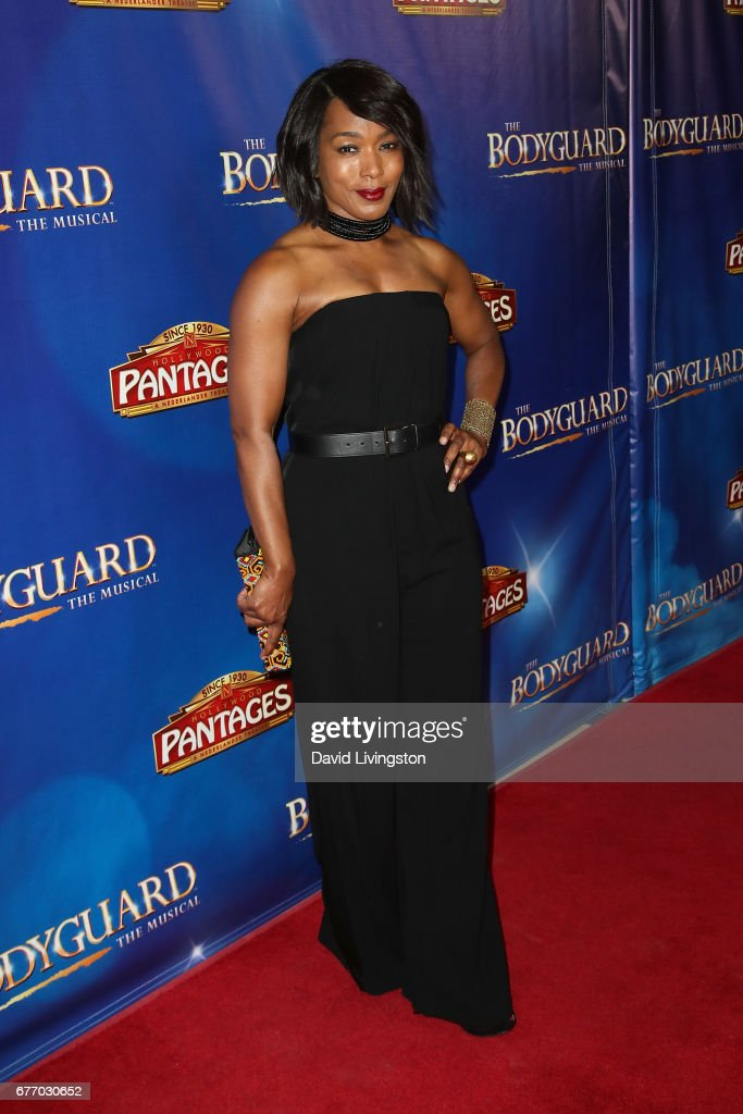 Actress Angela Bassett arrives at the premiere of 'The Bodyguard' at the Pantages Theatre on May 2, 2017 in Hollywood, California.