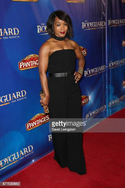 Actress Angela Bassett arrives at the premiere of 'The Bodyguard' at the Pantages Theatre on May 2 2017 in Hollywood California