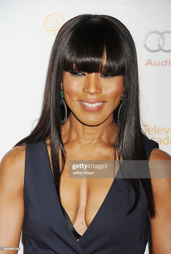 Actress Angela Bassett arrives at the Television Academy's 66th Emmy Awards Performance Nominee Reception at the Pacific Design Center on Saturday, Aug. 23, 2014, in West Hollywood, California.