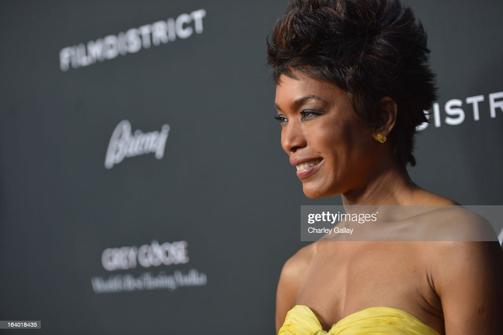 Actress Angela Bassett attends Brioni Sponsors Film District's World Premiere Of 'Olympus Has Fallen' ArcLight Cinemas on March 18, 2013 in Hollywood, California.