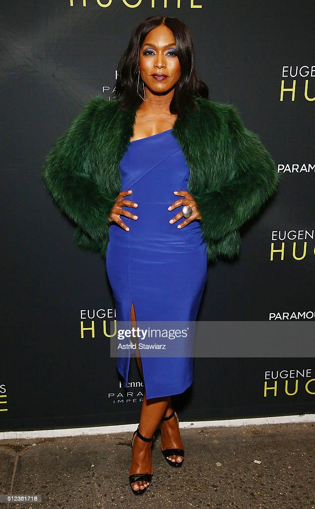 Actress Angela Bassett attends 'Hughie' Broadway opening night at Booth Theater on February 25 2016 in New York City