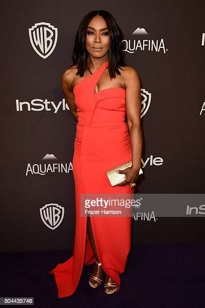 Actress Angela Bassett attends InStyle and Warner Bros 73rd Annual Golden Globe Awards PostParty at The Beverly Hilton Hotel on January 10 2016 in...