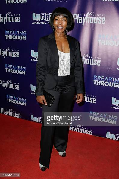 Actress Angela Bassett attends opening night of 'Breaking Through' at Pasadena Playhouse on November 1 2015 in Pasadena California