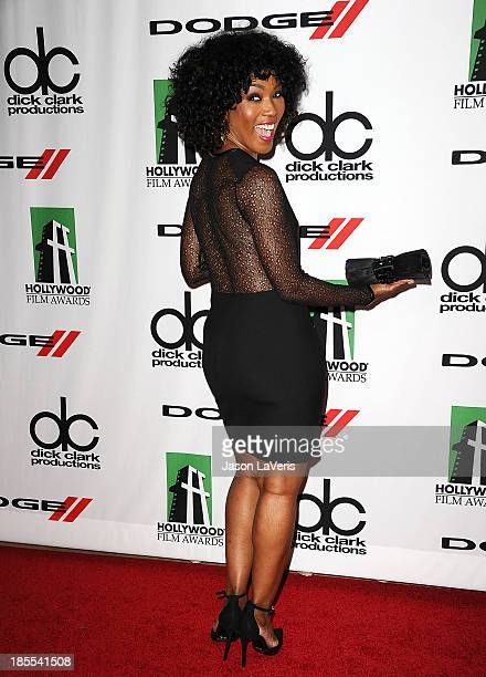 Actress Angela Bassett attends the 17th annual Hollywood Film Awards at The Beverly Hilton Hotel on October 21 2013 in Beverly Hills California
