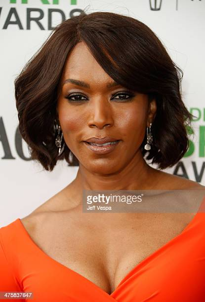 Actress Angela Bassett attends the 2014 Film Independent Spirit Awards at Santa Monica Beach on March 1 2014 in Santa Monica California