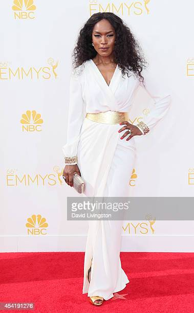 Actress Angela Bassett attends the 66th Annual Primetime Emmy Awards at the Nokia Theatre LA Live on August 25 2014 in Los Angeles California