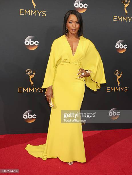 Actress Angela Bassett attends the 68th Annual Primetime Emmy Awards at Microsoft Theater on September 18 2016 in Los Angeles California