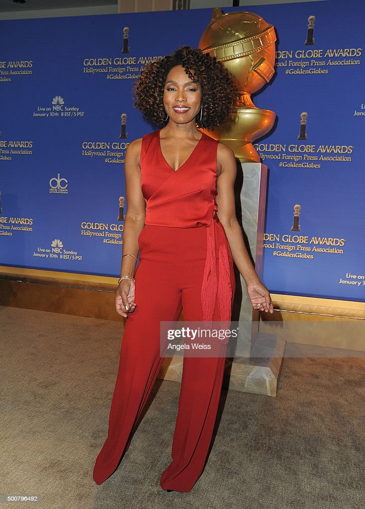 Actress Angela Bassett attends the 73rd Annual Golden Globe Awards nominations announcement at The Beverly Hilton Hotel on December 10 2015 in...