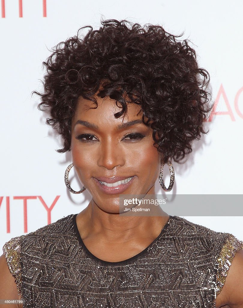 Actress Angela Bassett attends the 'Black Nativity' premiere at The Apollo Theater on November 18, 2013 in New York City.