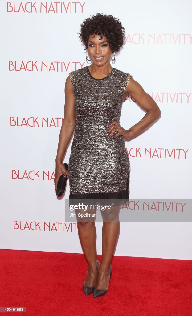 Actress <a gi-track='captionPersonalityLinkClicked' href=/galleries/search?phrase=Angela+Bassett&family=editorial&specificpeople=171174 ng-click='$event.stopPropagation()'>Angela Bassett</a> attends the 'Black Nativity' premiere at The Apollo Theater on November 18, 2013 in New York City.