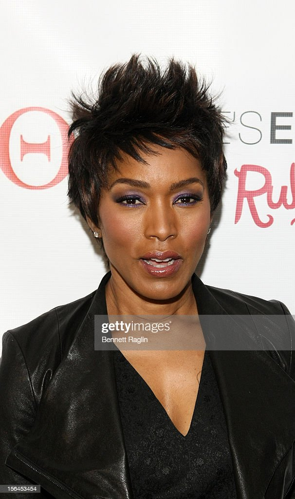 Actress Angela Bassett attends the 'Life's Essentials With Ruby Dee' screening at The Schomburg Center for Research in Black Culture on November 14, 2012 in New York City.