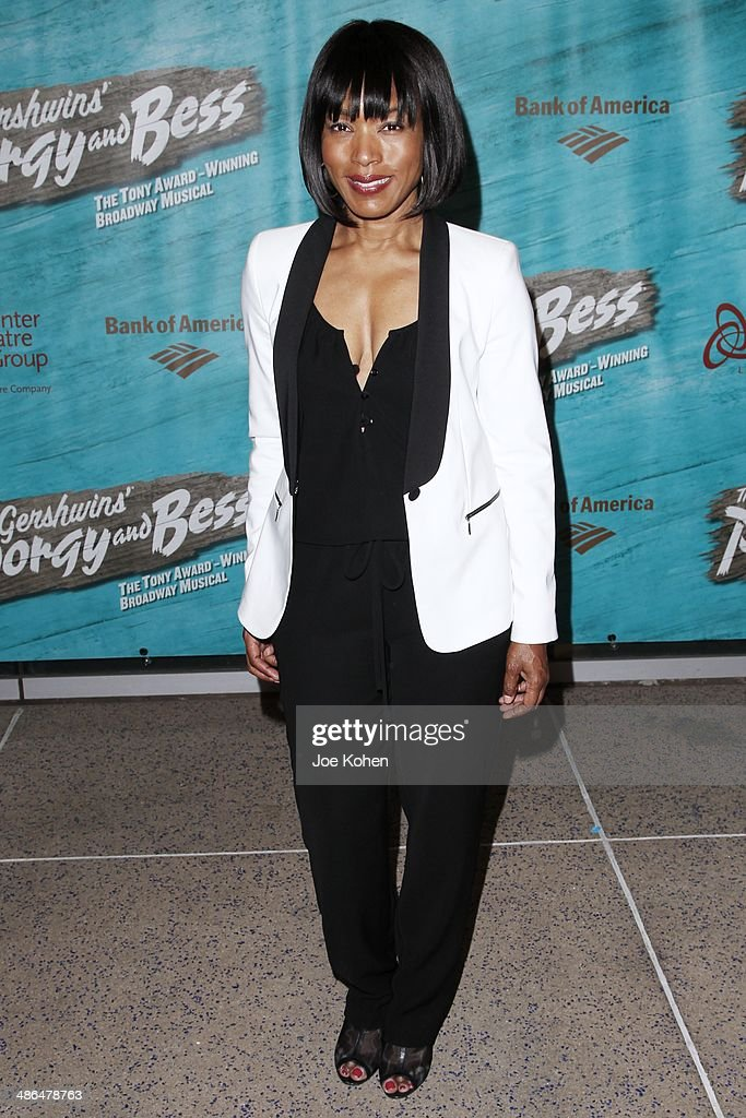 Actress <a gi-track='captionPersonalityLinkClicked' href=/galleries/search?phrase=Angela+Bassett&family=editorial&specificpeople=171174 ng-click='$event.stopPropagation()'>Angela Bassett</a> attends the Opening Night Of The Gershwin's 'Porgy And Bess' At The Ahmanson Theatre at Ahmanson Theatre on April 23, 2014 in Los Angeles, California.
