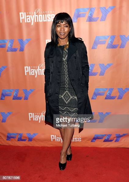 Actress Angela Bassett attends the opening night of the play 'Fly' at Pasadena Playhouse on January 31 2016 in Pasadena California
